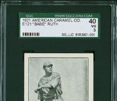 Babe Ruth American Caramel Co. - Lancaster & York Card (E121)