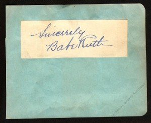 Babe Ruth Autographed Album Page