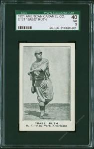 Babe Ruth American Caramel Baseball Card  1921 E121