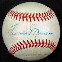 Thurman Munson Autographed Baseball