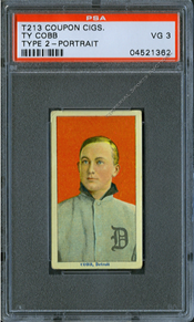 Ty Cobb Coupon Cigarette Tobacco Card Type 2 - PSA Graded