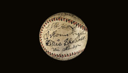 Honus Wagner and Tris Speaker signed baseball (JSA LOA)