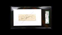 Lou Gehrig 1930's JSA slabbed authentic cut signature