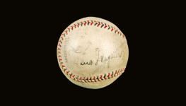 Honus Wagner single signed baseball (PSA LOA)