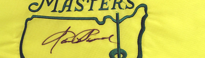 Sam Snead Signed Masters Pin Flag / Undated