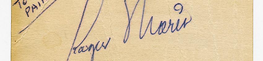 Roger Maris Signed Business Card – Circa 1962